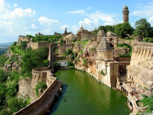 Chittorgarh Fort is one of several sites in India that inspired the fantastical realm where my novel is set.